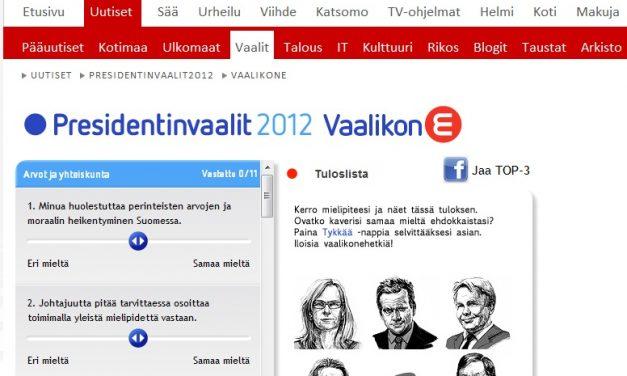 Vaalikonevahti: MTV3.fi ja presidentin tehtävä