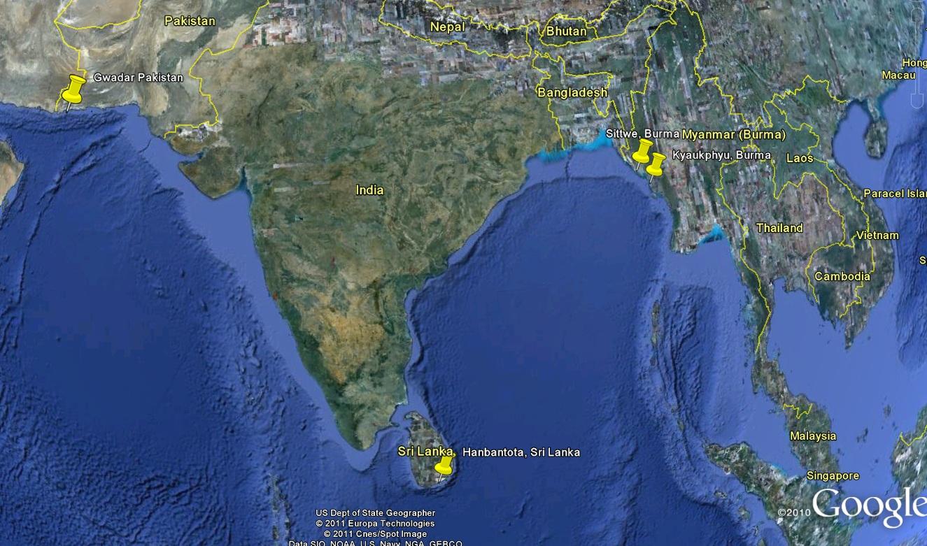 Intian valtameren kasvava geopoliittinen merkitys heijastuu mm. Kiinan pyrkimyksissä rakentaa laivastotukikohtia alueelle.