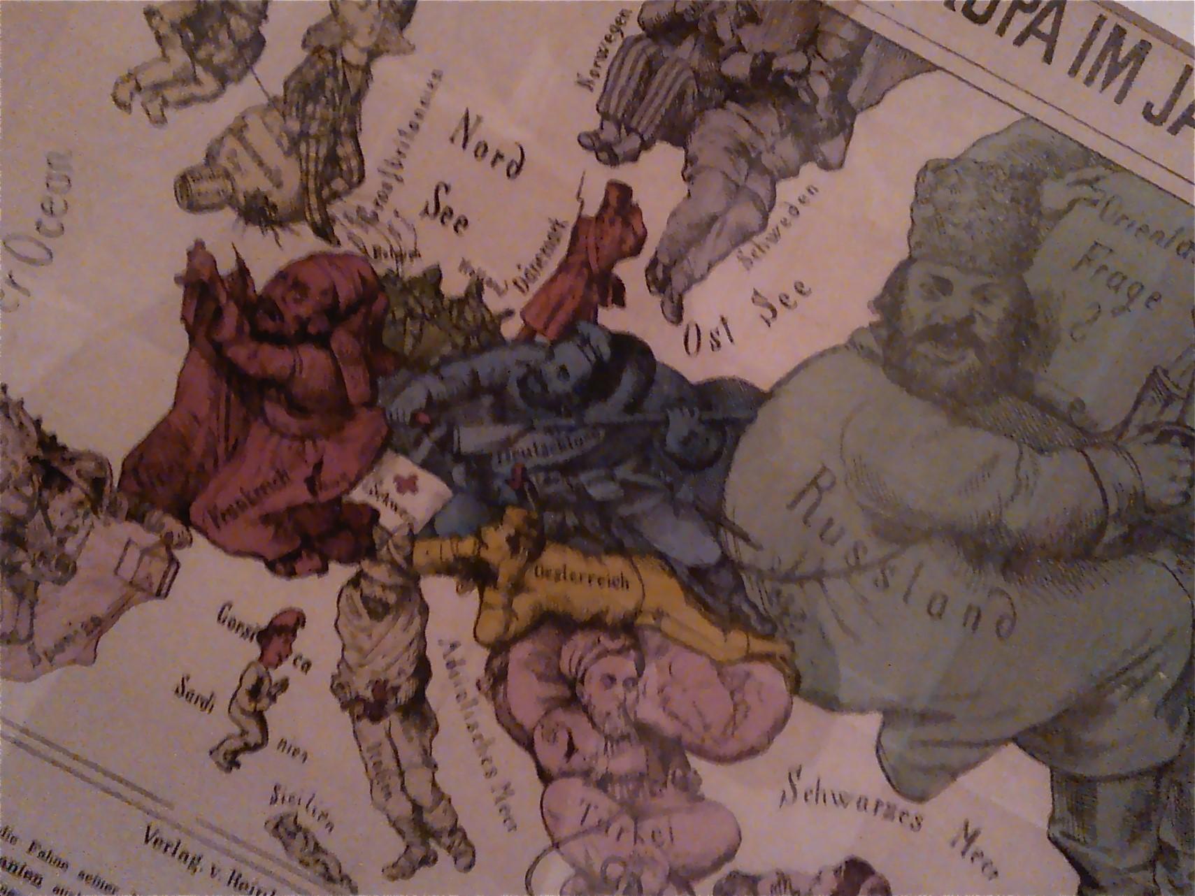 Orientalistista kuvastoa 'Imagining the Balkans' –näyttelyssä, Ljubljanassa.  Valokuva: Mitjo Vaulasvirta