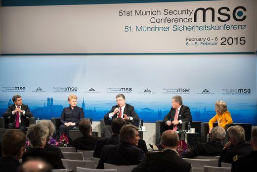 Presidentti Niinistö keskusteli helmikuussa 2015 Euroopan turvallisuudesta Münchenissä. Kuva: Munich Security Conference