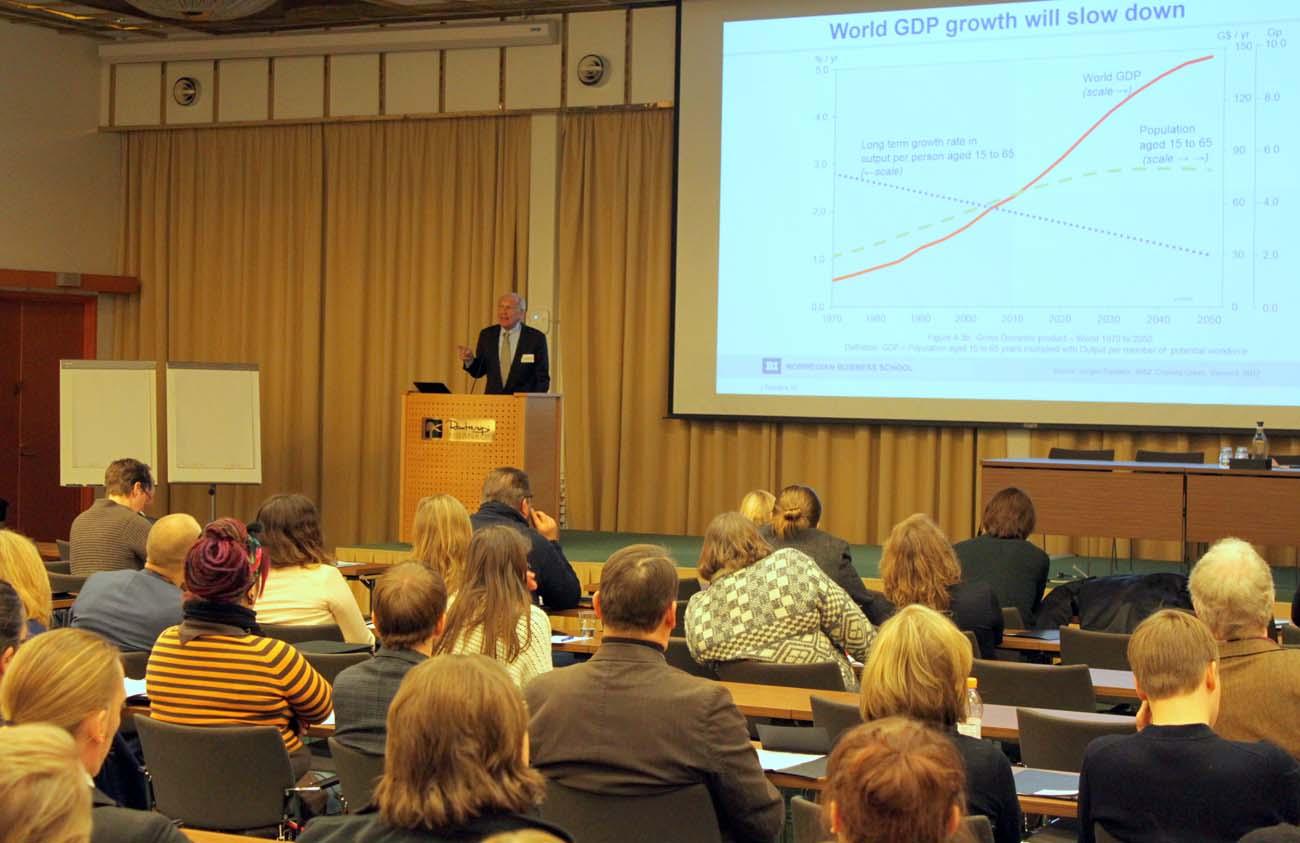 Jørgen Randers, KATSE 2016 konferenssin keynote-puhuja. Kuva: Timo R. Stewart