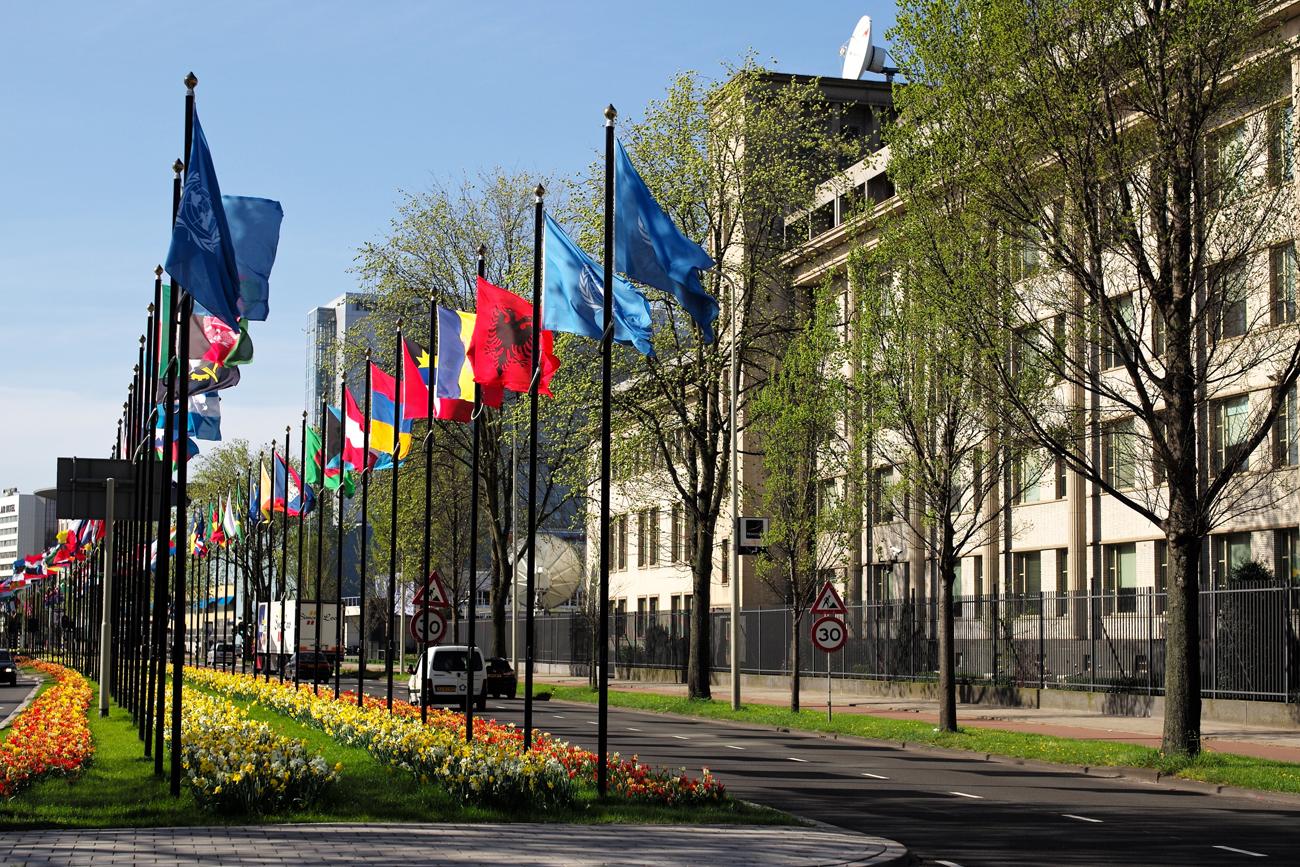 Jugoslavia-tuomioistuin Haagissa. Kuva: Roman Boed, Flickr.
