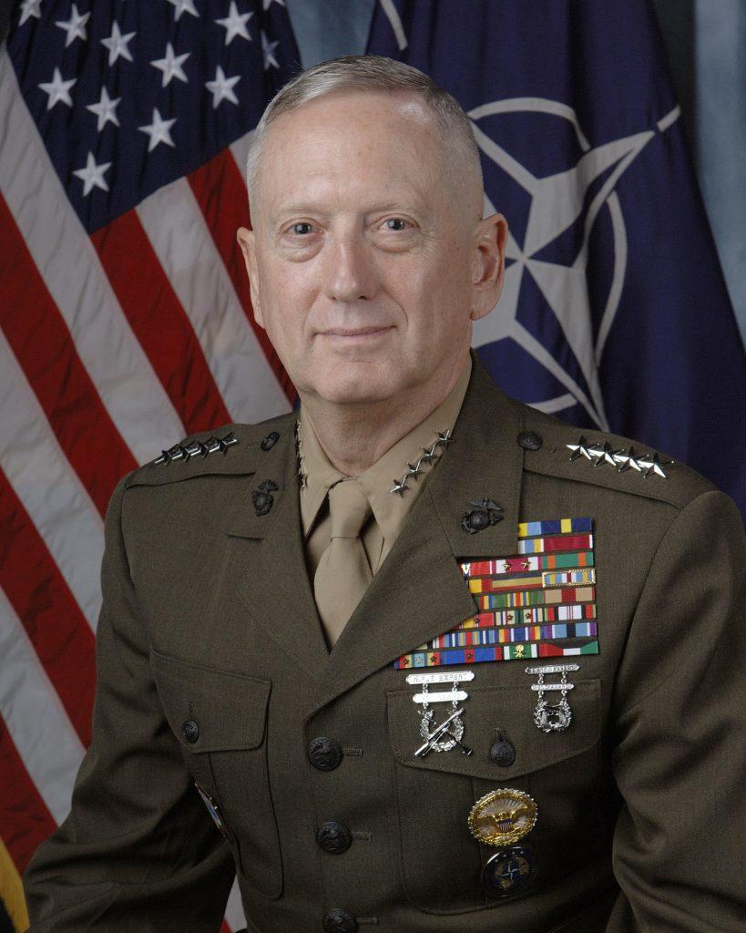 Kenraali Mattis univormussaan. Kuva: Wikipedia.